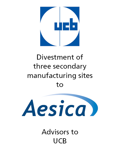 PharmaVentures facilitates manufacturing divestment for UCB to Aesica Pharmaceuticals