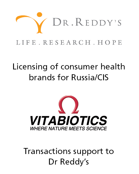 PharmaVentures acts as advisor and broker to Dr Reddy's to identify and secure product marketing opportunities for the Russian/CIS market.