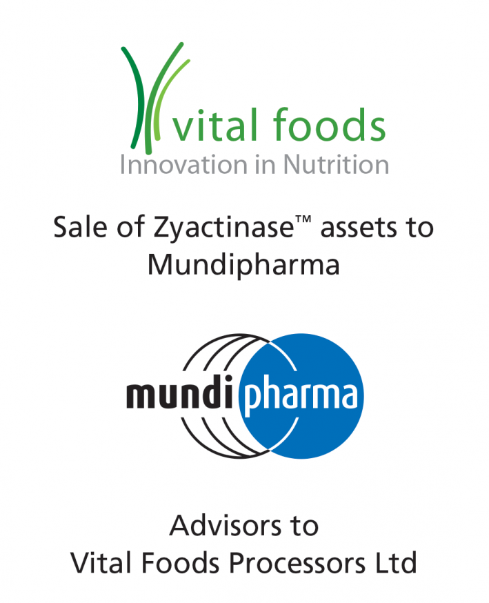 PharmaVentures advises Vital Foods on the sale of its Zyactinase-based digestive health product asset portfolio to Mundipharma