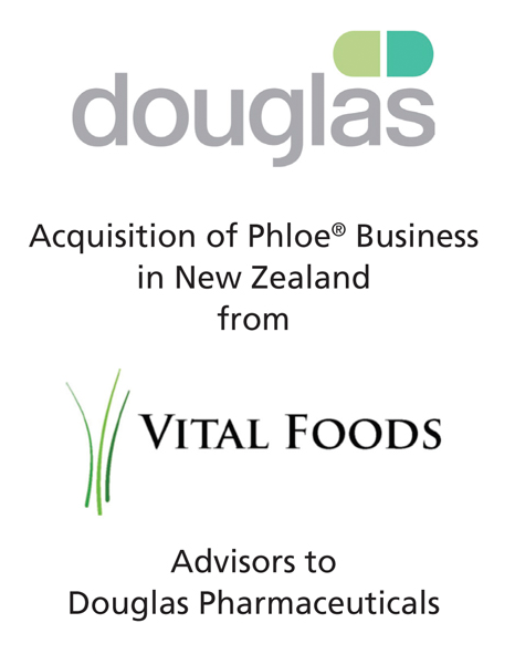 PharmaVentures' Latest Deal: Douglas Pharmaceuticals acquires Vital Foods' Phloe product line in New Zealand