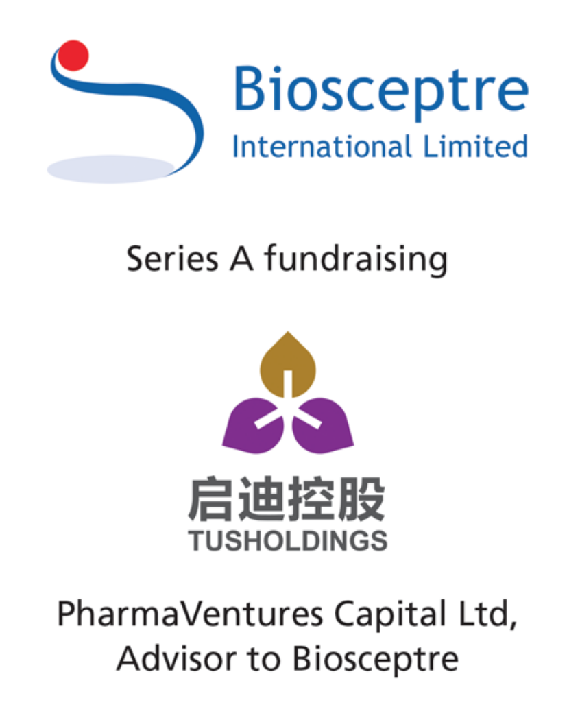 PharmaVentures Capital Limited advises Biosceptre International Limited, a clinical stage oncology company, on its Series A private placement by Tuspark S&T
