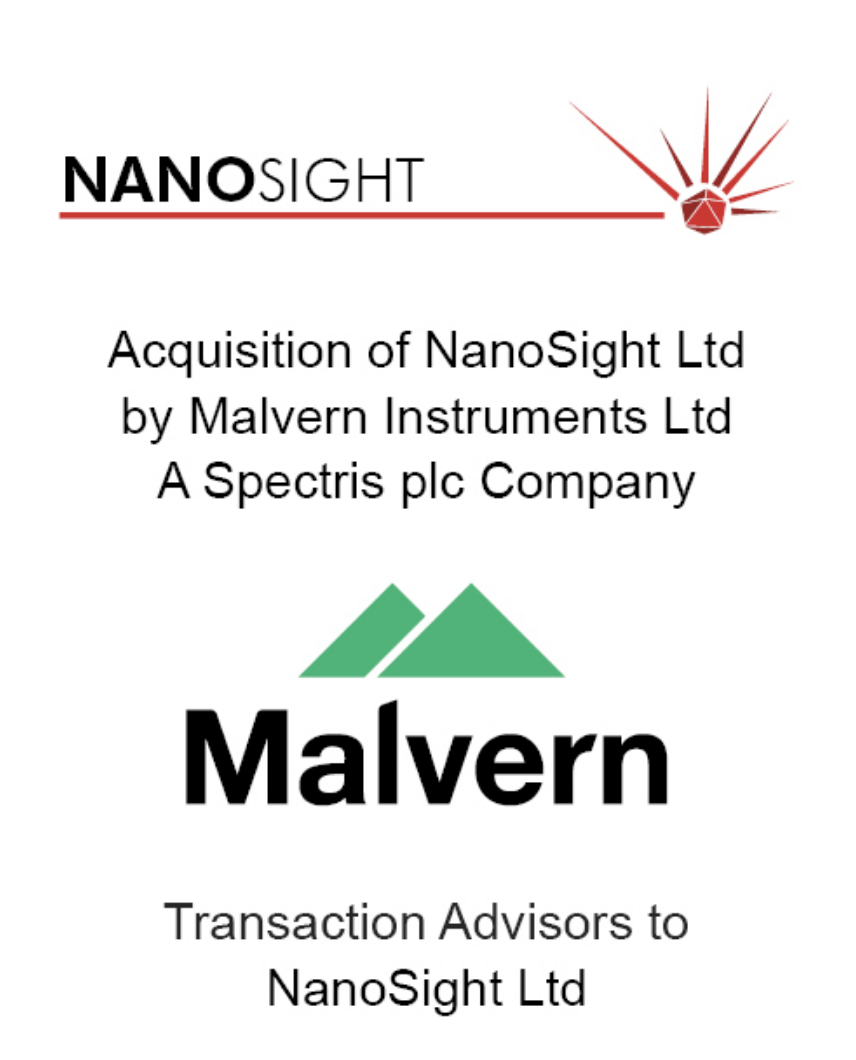 PharmaVentures advised Nanosight on its sale to Spectris plc.