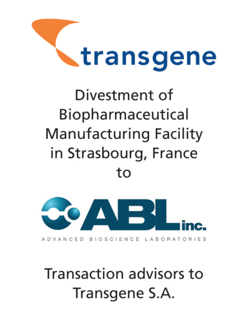 PharmaVentures advises Transgene on the sale of their biopharmaceutical manufacturing facility