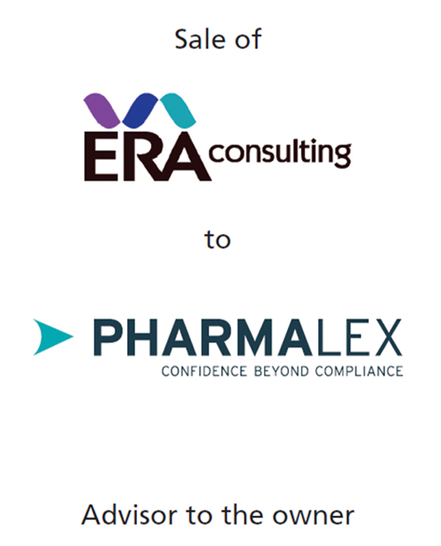 PharmaVentures acts as M&A advisor on the sale of the ERA Consulting Group to PharmaLex GmbH