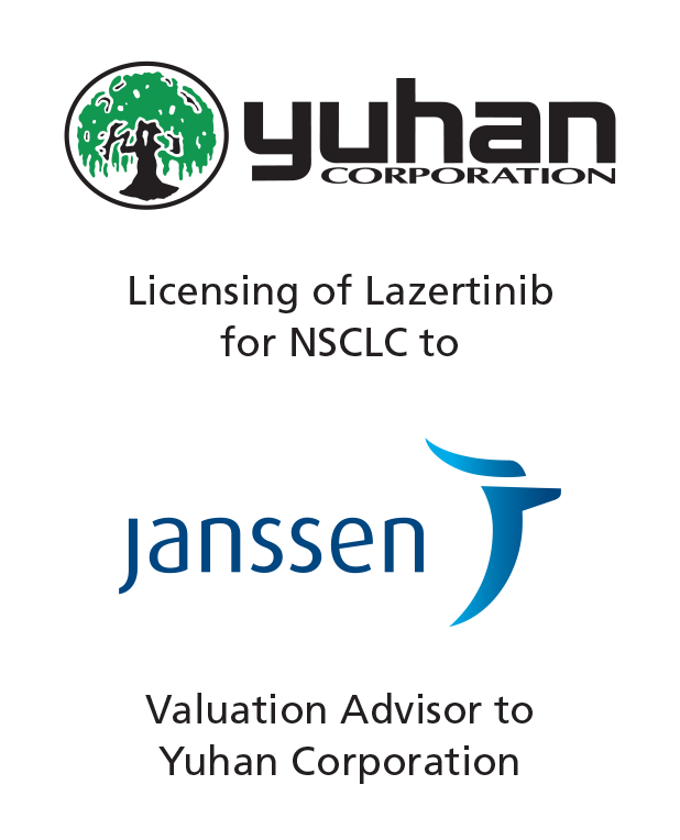Valuation advisor to Yuhan Corporation on its licensing of Lazertinib for NSCLC to Janssen